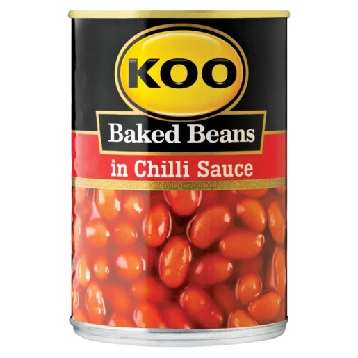 Koo Baked Beans In Chilli Sauce Can 420g Grocery Zm
